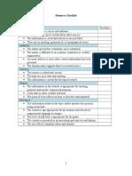 resource checklist