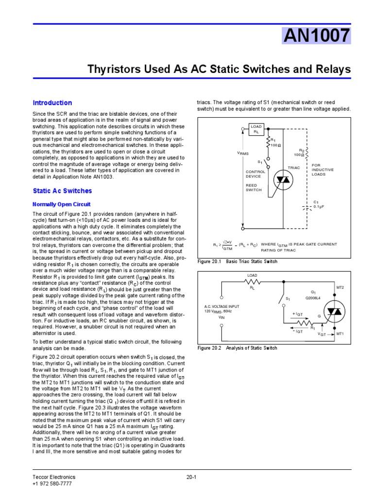2001jun15 Amd An2015 Switch Field Effect Transistor Solid State Relay Triac