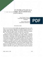 La Región de Puebla Tlaxcala y La Economia Novohispana 1670- 1821
