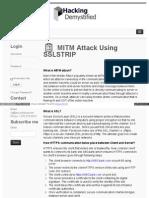 Hackingdemystified Com Mitm Attack Using Sslstrip