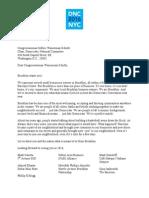 Letter to DNC