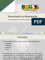 09 - terceirização da manutenção