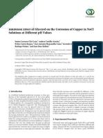 Glicerol Como Inhibidor en Cu