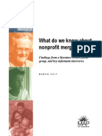 What Do We Know About Nonprofit Mergers?