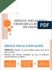 Déficit, Inflación y Crisis de La Balanza