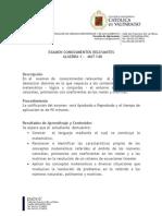 Contenido Examen Concimientos Relev. Matematica Mat 140