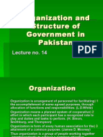 General Knowledge RegardingOrganization and Structure of Government in Pakistan