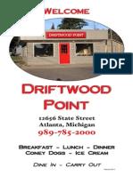 driftwood point menu