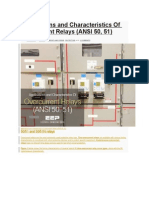 Applications and Characteristics of Overcurrent Relays