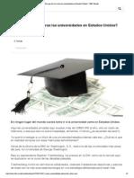 ¿Por qué son tan caras las universidades en Estados Unidos_ - BBC Mundo