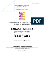 Baremo de Postgrado Nacional Parasitologu00EDa 2015