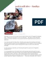 I Believe Prageeth is Still Alive – Sandhya