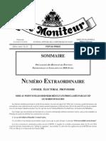 Le Moniteur 17 Juin 2011 Desras, 2ème Senateur