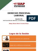 Sesión 5 Postulación Del Proceso, La Demanda y La Contestación - UAP