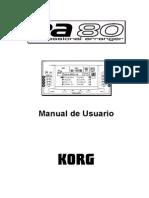 Manual Korg Pa80 100F SPA