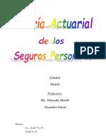 Actuarial Seguros Personales - UBA