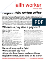 Health Worker Leaflet to Reject Pay Offer Feb 2015