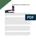 Deficiencias en La Educacion Peruana