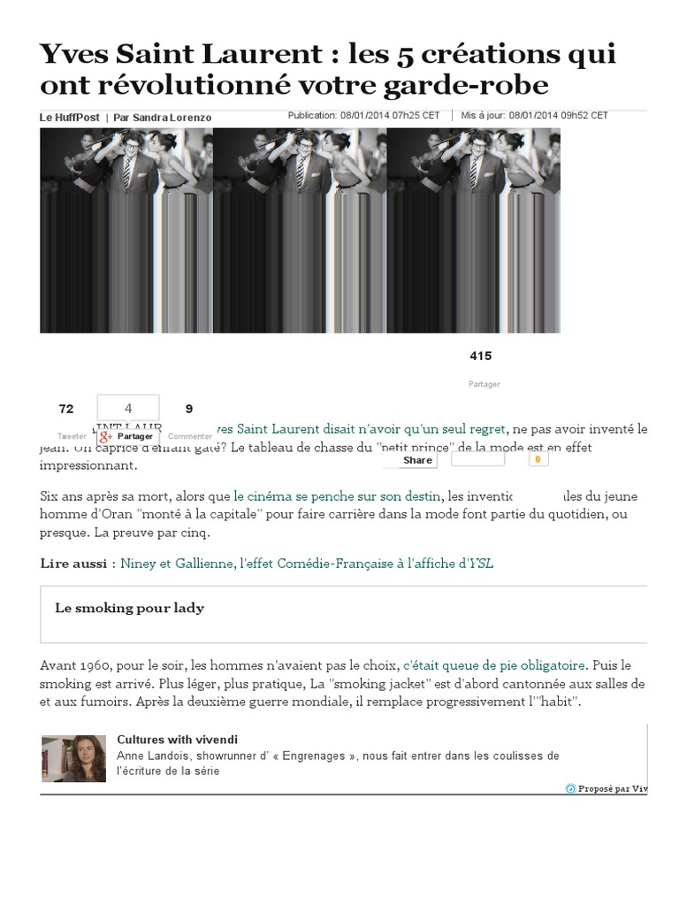 Yves Saint Laurent   les 5 créations qui ont révolutionné votre garde-robe .pdf 492a47f088c