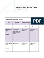 educational philosophy peer review form
