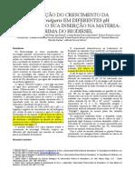 Avaliação Do Crescimento Da Chlorella Vulgaris Em Diferentes PH Objetivando Sua Inserção Na Matéria-prima Do Biodiesel