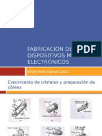 Fabricacion De Dispositivos Micro Electronicos