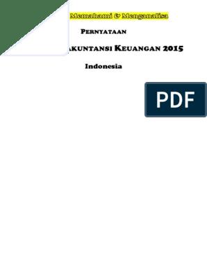 Pernyataan Standar Akuntansi Keuangan Indonesia Psak 2015