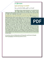 [Shaykh Saalih Al-Fawzaan] Ascription to Salafiyyah and Saying 'I Am Salafi'