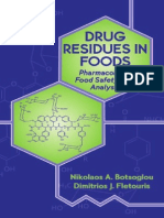 Drug Residues in Foods Pharmacology Food Safety and Analysis