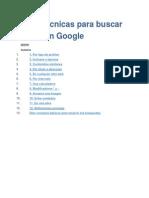 Doce Técnicas Para Buscar Mejor en Google