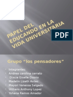 Papel Del Educando en La Vida Universitaria