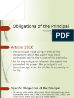 Obligations of the Principal