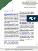 Boletín Nacional Econo-finan 8 Al 12 Dic 14