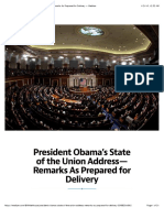 President Obama's State of the Union Address—Remarks as Prepared for Delivery — Medium