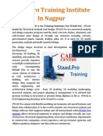 Staad Pro Training Institute in Nagpur