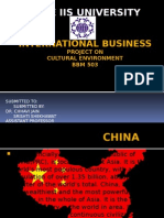 International business-cultural environment of china