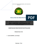 investigacion de la historia de la arquitectura de huncayo