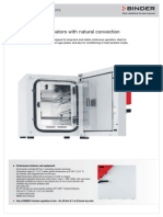 Binder Incubator Specification Sheet