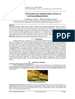 Phytochemical Potential and Antimicrobial Activity of Andrographispaniculata