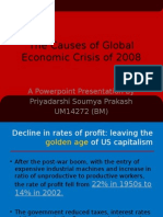 Causes of Global Economic Crisis 2008