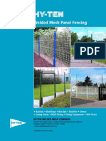 Hy-Ten Welded Mesh Panel Fencing Brochure
