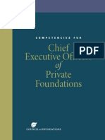 Competencies for CEOs of PFs