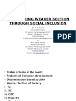 Empowering Weaker Section Through Social Inclusion