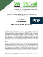Democracia, Participación Ciudadana y Funciones Del Trabajo Social