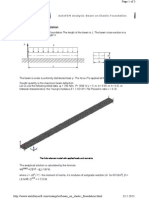 Example-beam on Elastic Foundation.