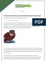5 Tips Untuk Menurunkan Berat Badan Saat Menstruasi _ TeknikDiet