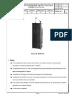 _Drinking Water Fountain (SOCO-40)_Part List & Manual