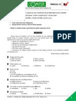 Subiect Si Barem LimbaRomana EtapaN ClasaII 13-14