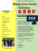 Uplands School Weekly Newsletter - Term 2 Issue 5 - 13 February 2015