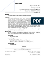 Large General Service Transmission Delivery 2015 - Rocky Mountain Power (WY)